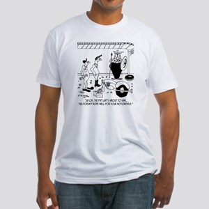 6869_motorcycle_cartoon Fitted T-Shirt