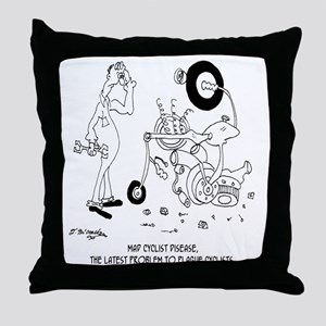 6999_disease_cartoon Throw Pillow