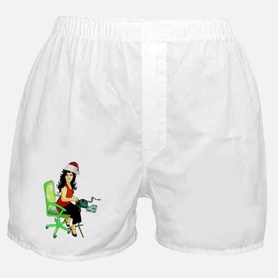 steno_girl Boxer Shorts