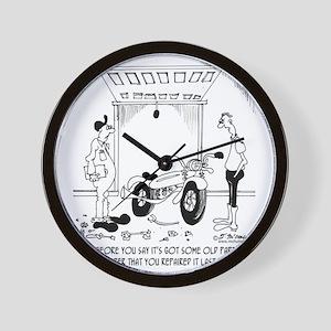 6807_motorcycle_cartoon Wall Clock