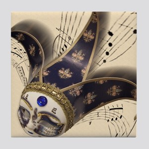 16x20_musicMask1 Tile Coaster