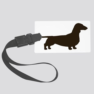 dachshundchocolate Large Luggage Tag