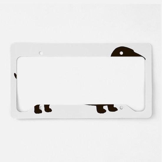 dachshundchocolate License Plate Holder