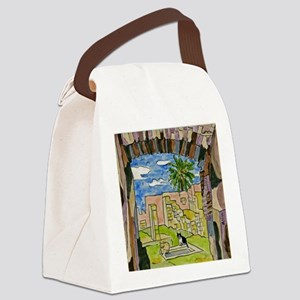 tiles-italy-pompeii-5.25 Canvas Lunch Bag