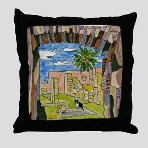 tiles-italy-pompeii-5.25 Throw Pillow