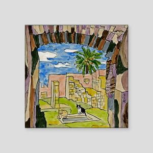 """tiles-italy-pompeii-5.25 Square Sticker 3"""" x 3"""""""