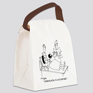 6804_motorcycle_cartoon Canvas Lunch Bag