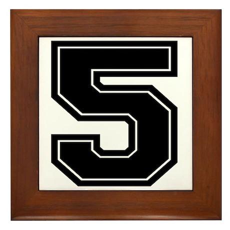 5 Framed Tile  sc 1 st  CafePress & Varsity Numbers Wall Art - CafePress
