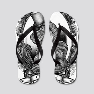 dapperraptor_BLK Flip Flops