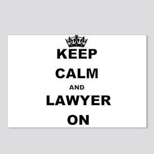 KEEP CALM AND LAWYER ON Postcards (Package of 8)