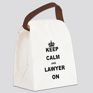 KEEP CALM AND LAWYER ON Canvas Lunch Bag