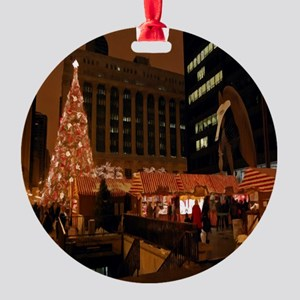 1christmas Round Ornament