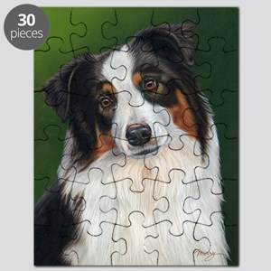 Australian Shepherd Tri Puzzle