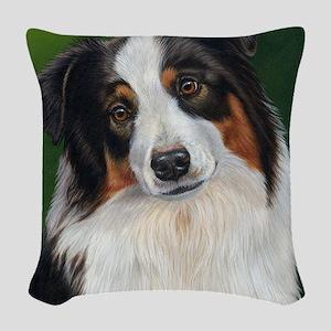 Australian Shepherd Tri Woven Throw Pillow