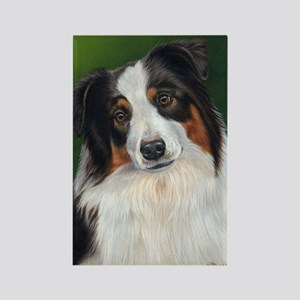 Australian Shepherd Tri Rectangle Magnet