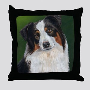 Australian Shepherd Tri Throw Pillow