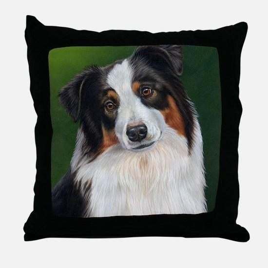Australian Shepherd Tri Throw Pillow