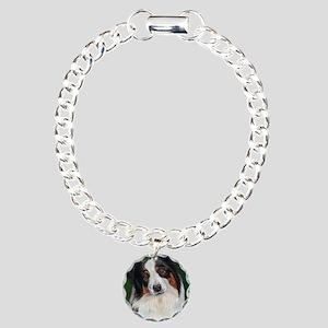 Australian Shepherd Tri Charm Bracelet, One Charm