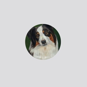 Australian Shepherd Tri Mini Button