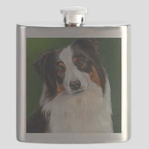 Australian Shepherd Tri Flask
