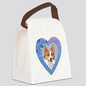 pembroke-heart Canvas Lunch Bag