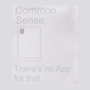 CommonSense_AppBWNB Throw Blanket