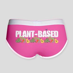 plant-based2-blk Women's Boy Brief