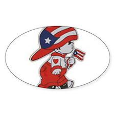 Puerto Rico ROCKS Oval Sticker