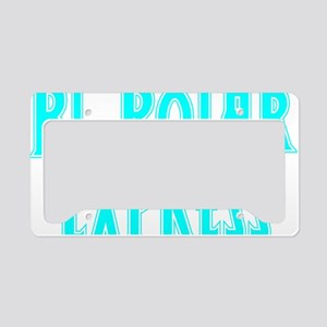 lt.blue, Bi-Polar 2 License Plate Holder