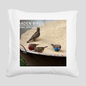 GardenBirds Square Canvas Pillow