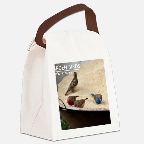 GardenBirds Canvas Lunch Bag