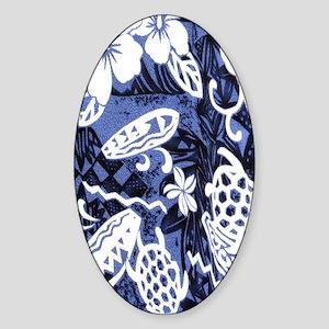 honuhibiscuskindlesleeve Sticker (Oval)