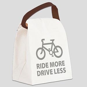 bikerRideMore1C Canvas Lunch Bag
