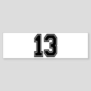 13 Bumper Sticker