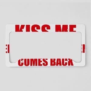 kissMeFriend2D License Plate Holder