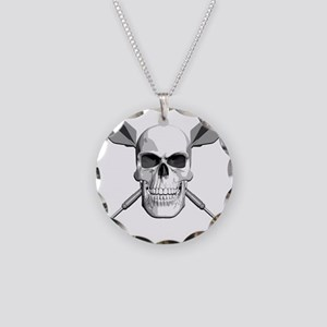 dart_skull Necklace Circle Charm