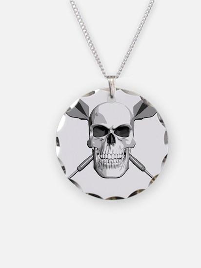 dart_skull Necklace Circle Charm