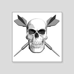 "dart_skull Square Sticker 3"" x 3"""