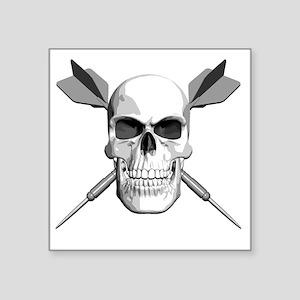 "dart_skull Square Sticker 3"" x 3"""