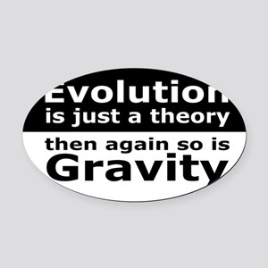 evolution5 Oval Car Magnet