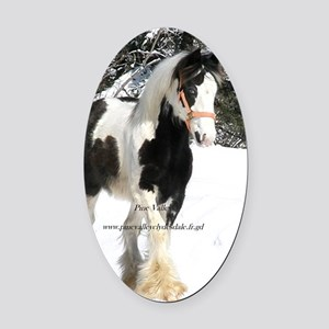 trudy Oval Car Magnet