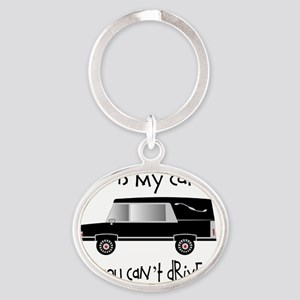 this is my car FUNERAL DIRECTOR Oval Keychain