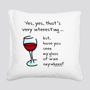seenmywine Square Canvas Pillow