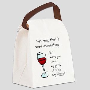seenmywine Canvas Lunch Bag