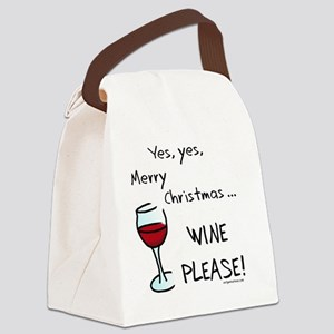 wineplease Canvas Lunch Bag