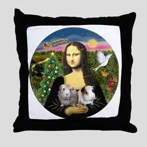 R-Mona-Two GuineaPigs Throw Pillow