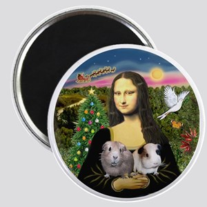 R-Mona-Two GuineaPigs Magnet