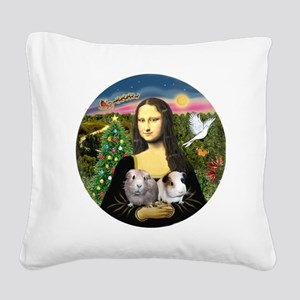R-Mona-Two GuineaPigs Square Canvas Pillow