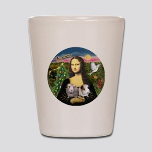 R-Mona-Two GuineaPigs Shot Glass