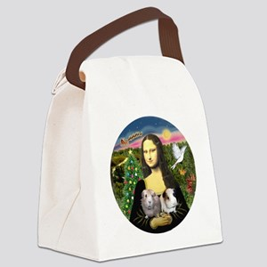 R-Mona-Two GuineaPigs Canvas Lunch Bag